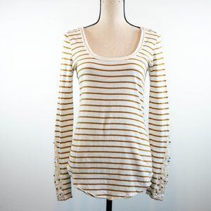 Free People Hard Candy Striped Tee Size S